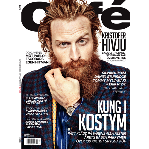 Café  - The article 'Mr. Smith höjer modegraden' / 'Mr. Smith raises the level of fashion' is featured on p.50 of the May issue of Swedish magazine Café.