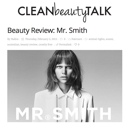 Clean Beauty Talk - Mr. Smith featured in the article 'Head to Toe Pregnancy Beauty' on health and beauty site cleanbeautytalk.com.