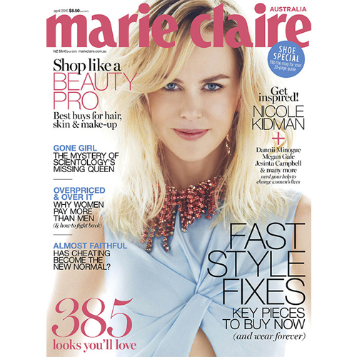 Marie Claire - Mr. Smith is featured in Marie Claire Australia's April 2016 issue in the article 'Show Your Hair Who's Boss' on p.168.