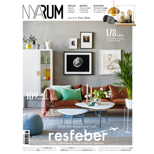 Nya Rum - Mr. Smith is featured on p.49 of Swedish magazine Nya Rum's issue 6 2016. The Mr. Smith Sea Salt Spray is included in the 'Bäst Just Nu - Under Solen' // 'Best Right Now - Under the Sun' edit.