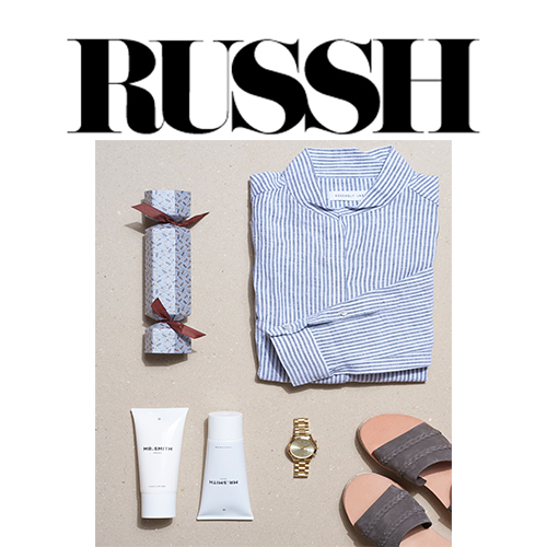 Russh  - Mr. Smith's Blond and Masque featured on Russh's online blog in a fashion and gift guide post 'The Best Friend.'<br />