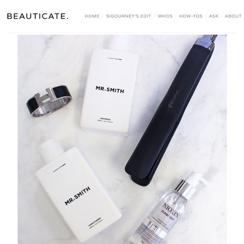 Beauticate - Mr. Smith named as one of ModelCo Cosmetics founder Shelley Barret's favourite things in both a feature on her at beauticate.com, as well as her Instagram.