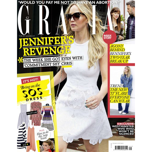 Gazia  - Mr. Smith featured in 'The Best Beauty Products in the World' on p.100 of Grazia UK July 13th, 2015 issue.<br />