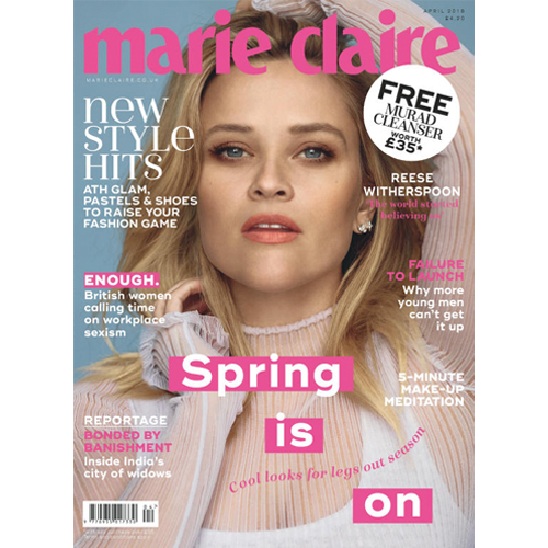 Marie Claire UK - Mr. Smith's Sea Salt Spray is featured on p. 187 of Marie Claire's April 2018 Issue.