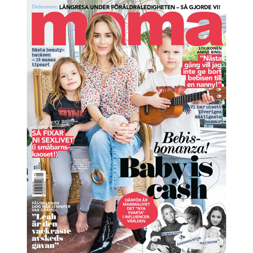 Mama - Swedish magazine Mama features Mr. Smith's Dry Shampoo on p. 98 of their May 2018 Issue.
