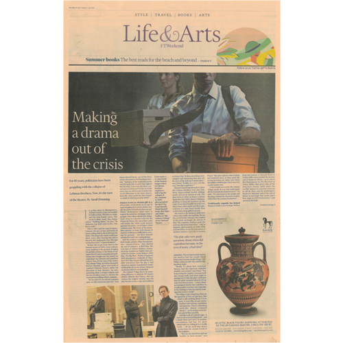 Financial Times UK - Mr. Smith is featured in an article by the Financial Times Weekend paper. The article 'Best Summer Beauty Buys' features Mr. Smith's product The Foundation.