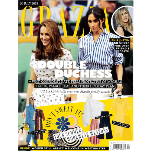 Grazia UK - Mr. Smith's Stimulating Shampoo is featured in Grazia UK's July 30th 2018 article, 'Beauty's New Movers and Shakers'.